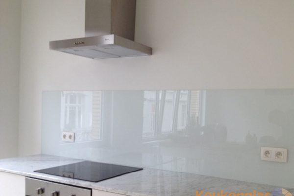 Glazen spatwand wit Antwerpen