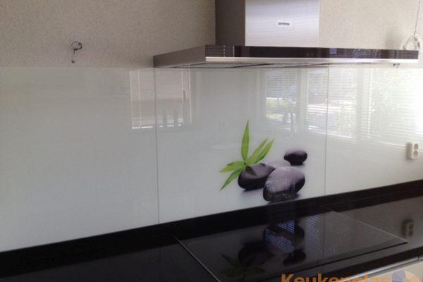 Keuken spatwand met afbeelding