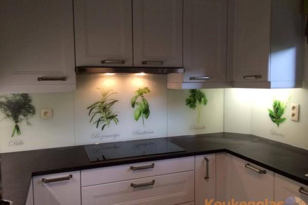 Keuken achterwand kruiden