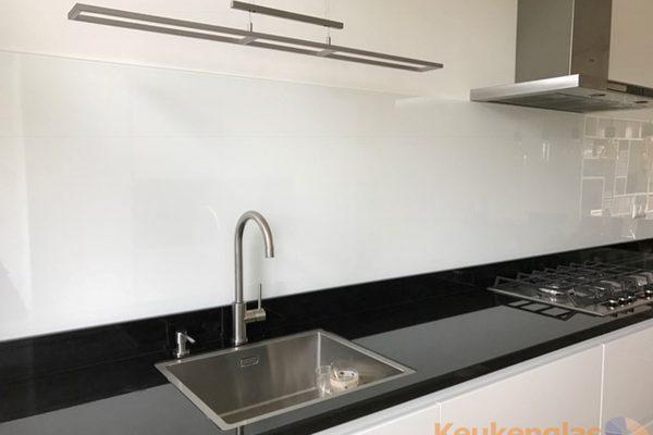 Glazen keukenwand wit Gouda