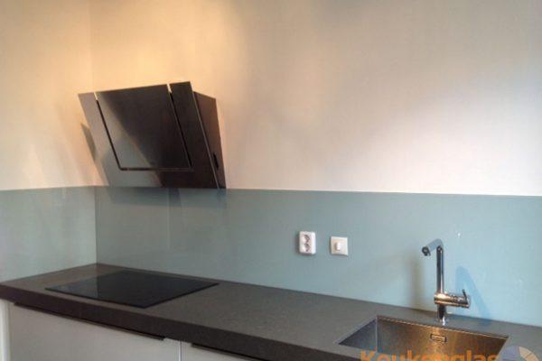 Blauwe keuken achterwand Almere